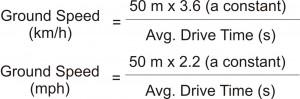 Calibrate ground speed