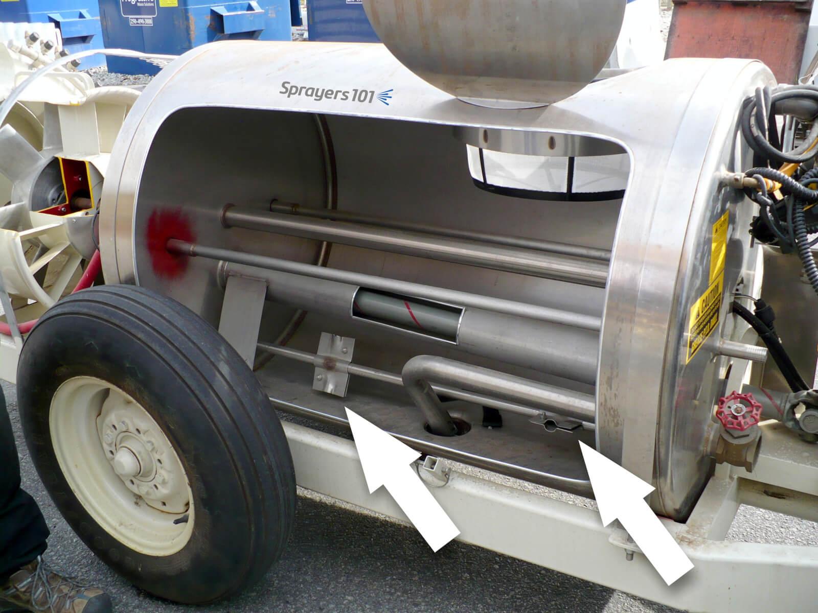 air agitation of tank bottom sludge