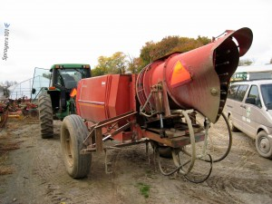 Airblast sprayers, such as this John Bean, come in many forms. They may not match all of the maintenance steps listed here, but they all benefit from regular attention.