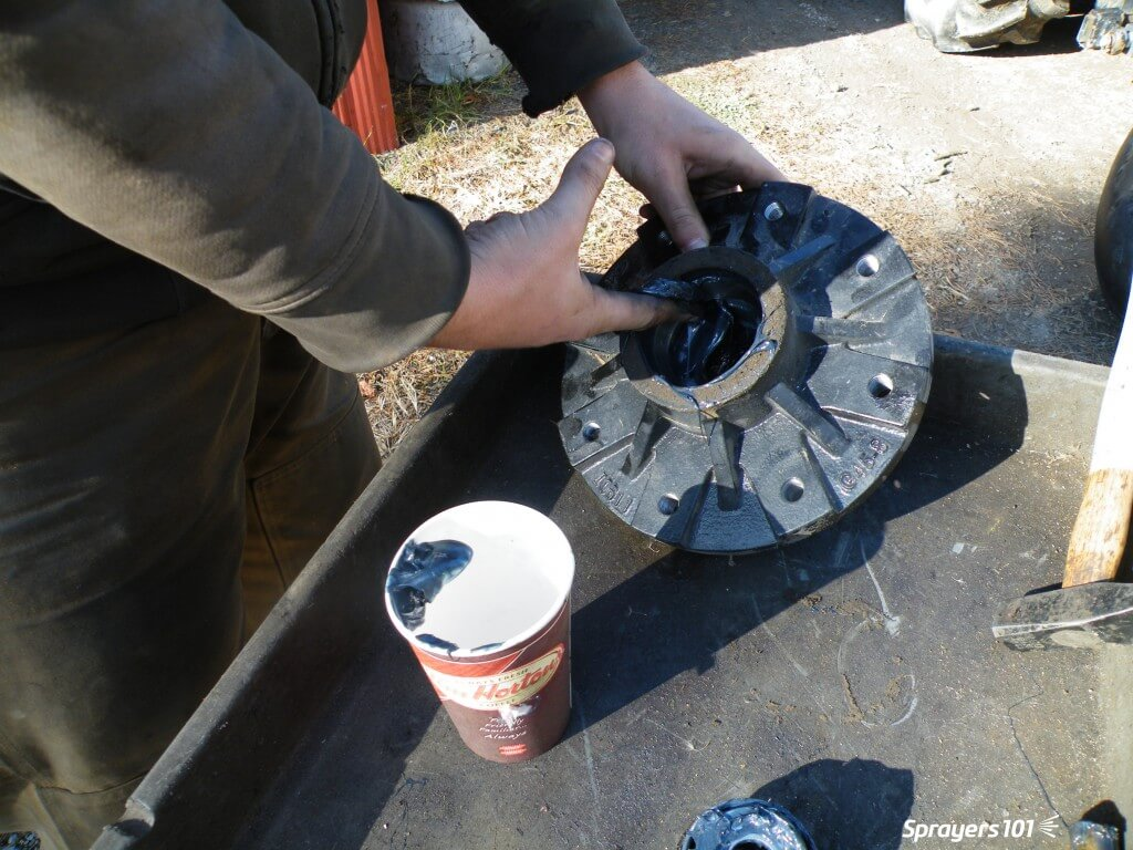 Clean the old grease out of the hub.