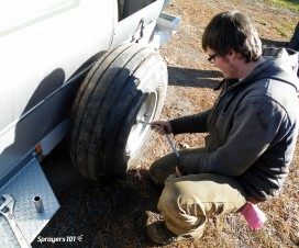 Replace the wheel and rim.