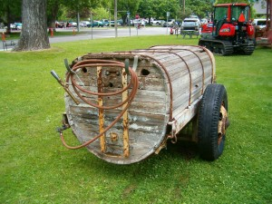 A wooden sprayer tank. You know that had to be tough to clean thoroughly.