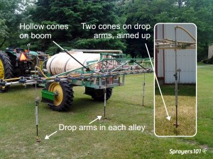 "Possibly the ""perfect"" ginseng spray boom. 25 hollow cones and four drop arms sporting 2 full cones apiece."