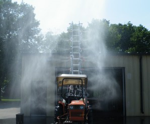 Test the sprayer plumbing and stability