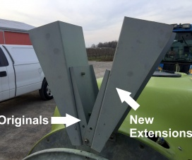 The original Munckhof deflectors were reversed, and a larger set of extensions were fabricated and attached.