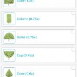 Select tree shape