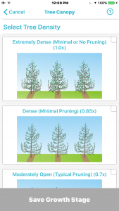 Select tree density