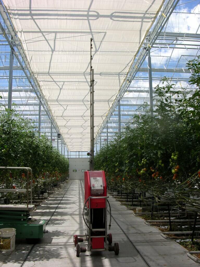 Automated Vertical boom sprayer