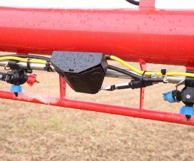 A new auto-boom height control system, developed in house, uses three sensors in a cluster to scan a wider crop area. Four clusters are used on the boom.